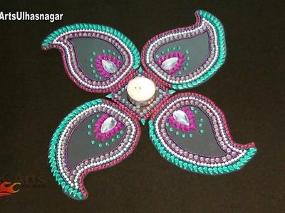 DIY Easy Rearrangeable Kundan Rangoli for Diwali | How to make | JK Arts 997