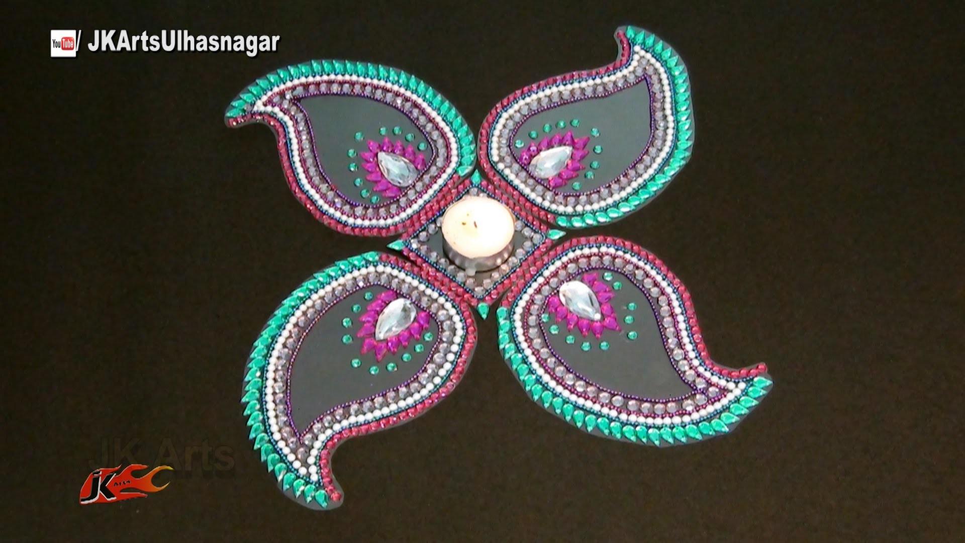 DIY Easy Rearrangeable Kundan Rangoli for Diwali   How to make   JK Arts 997