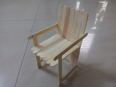 DIY: How to create Sofa chair using Popsicle sticks. ice cream sticks