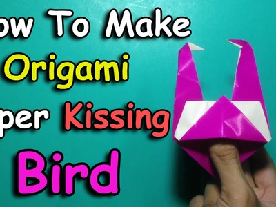 DIY How To Make Origami Paper Kissing Bird