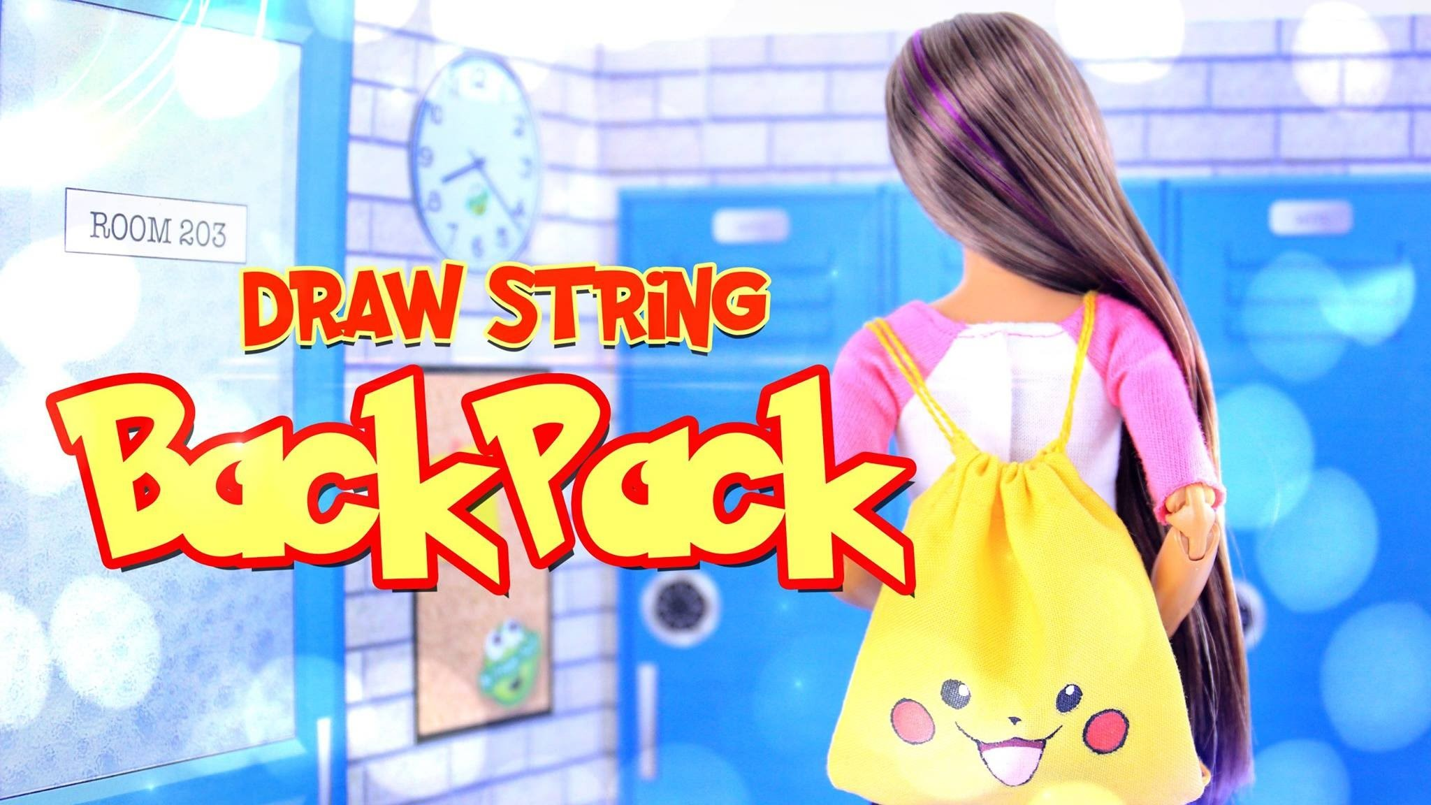 DIY - How to Make:  POKEMON - Doll Draw String Backpack - Handmade - Craft