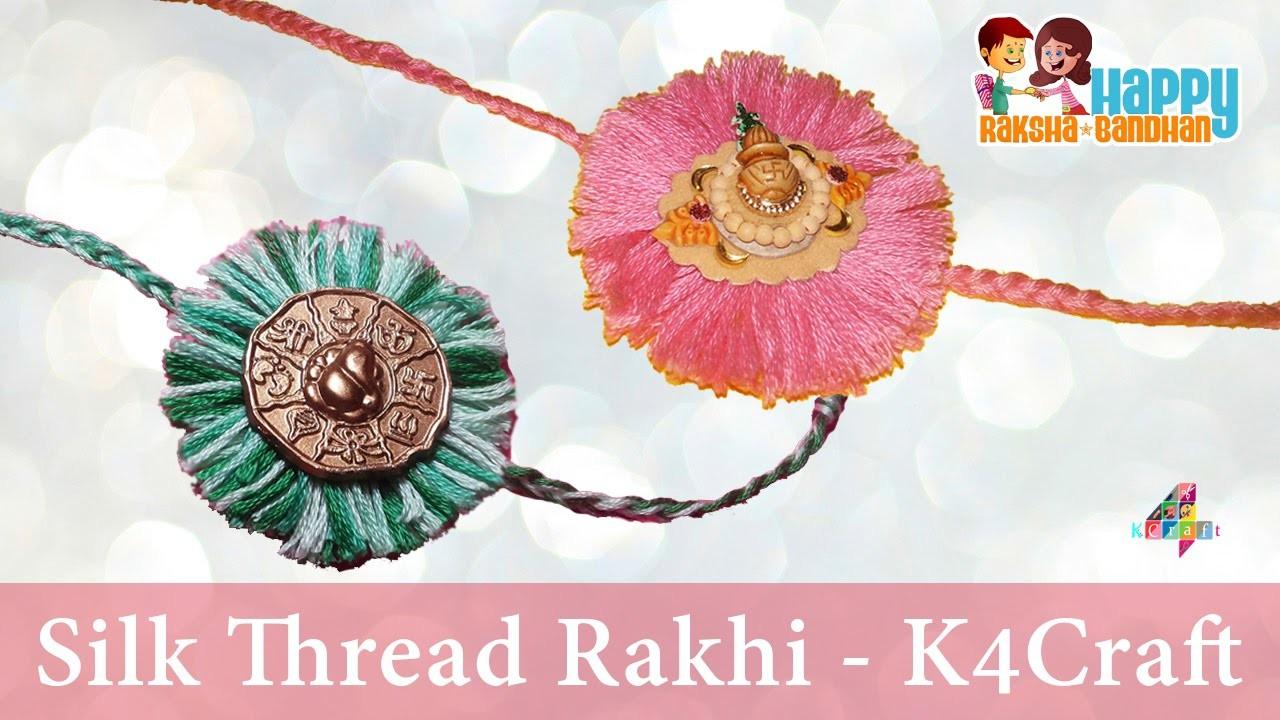 "DIY: How to make Silk Thread ""Rakhi"" for Raksha Bandhan at Home - Easy Steps"