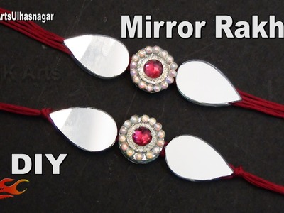 DIY Mirror and Diamond Patch Rakhi for Raksha Bandhan | How to make |  JK Arts 1009