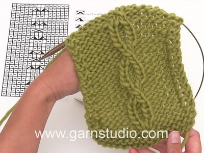 DROPS Knitting Tutorial: How to work cable for the jumper.cardigan in DROPS 171-51 and 171-52