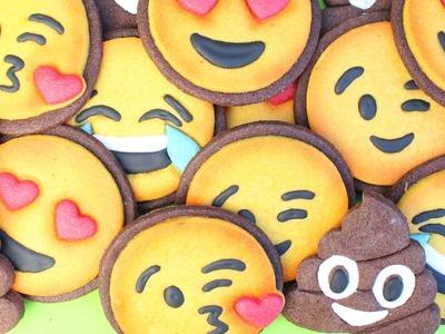 Easy Emoji Cookies - How to make emoji cookies - Emoji cookies with coloured cookie dough