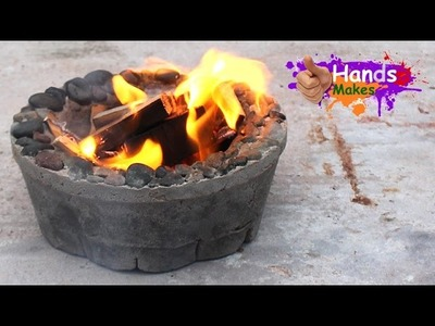 Easy How To Make a 2 Dollar Small Garden Concrete Fire Bowl