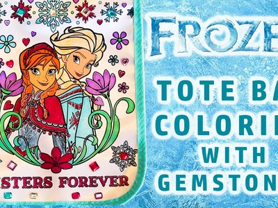 Frozen Elsa And Anna Sparkling Gemstone Coloring Tote Bag How To Design