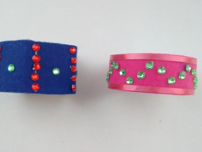 Handmade Jewellery- How to make beautiful handmade bracelet at home with waste material