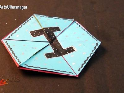 Hexagon Endless Card for Scrapbook   How To Make An Endless Love Valentine Card   JK Arts 1019
