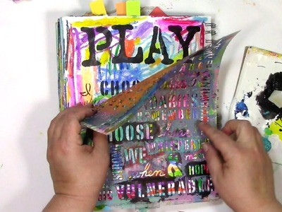 How I Scribble and Stencil in my Art Journal