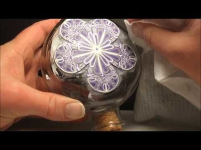 How to Apply Polymer Clay Cane Slices to a Glass Bottle