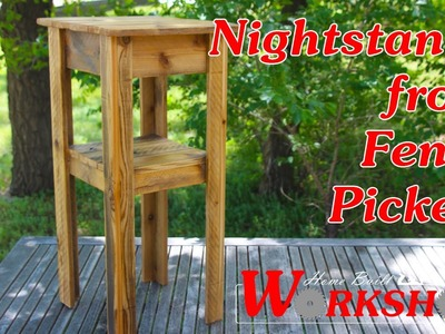 How to build nightstands from Fence Pickets