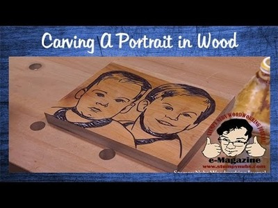 How to carve a portrait into wood from a photograph (+ Arbortech Power Chisel review)