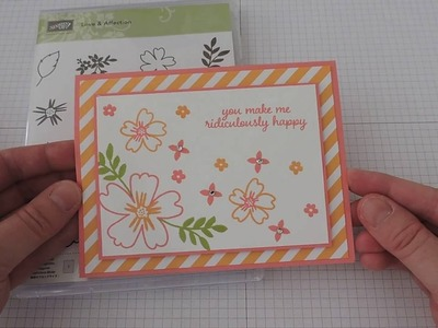 How to create a super simple card using Stampin' Up!'s Love and Affection stamp set.