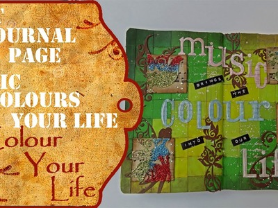 How to create an Art Journal Page - Music Colours Life