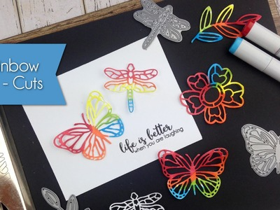 How to Create Rainbow Die-Cuts