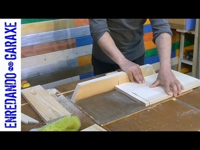 How to cut some wood to make a woodworking project