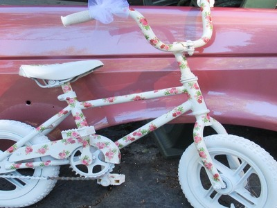 How To Decoupage a Bike Childs or Adult