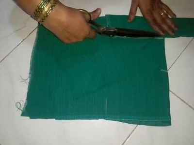 How to do a plain blouse cutting in home.