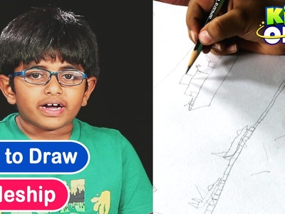 How to Draw a Realistic Battleship Drawing Lessons For Kids by Rishi