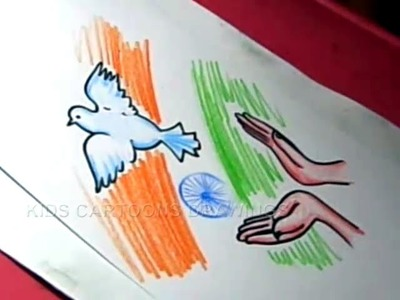 How to Draw Easy Independence day Drawing. designs Step by Step