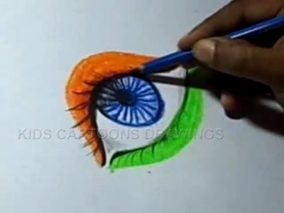 How to Draw Independence day Greeting. design Step by Step
