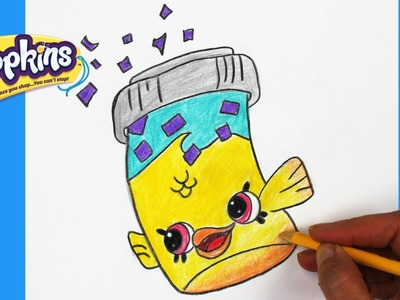 "How to Draw Shopkins Season 4 ""Fish Flake Jake"" Step By Step Easy 