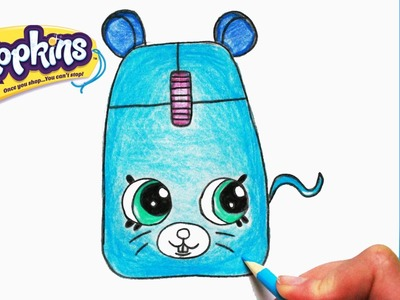 """How to Draw Shopkins Season 5 """"Clicky Mouse"""" Step By Step Easy 