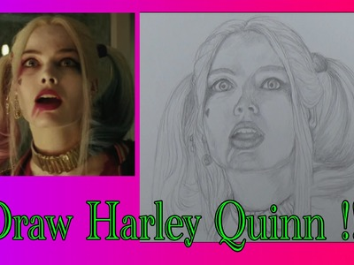 How to Draw with Augmented Reality: Harley Quinn (Suicide Squad)