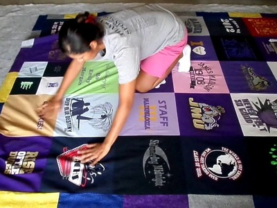 How to Finish a T-shirt Quilt - Sandwich to Binding