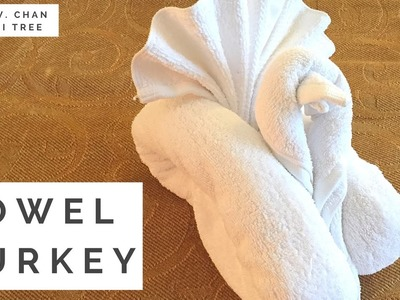 How to Fold A Towel Animal: Turkey (Bird) Towel Folding in Resort, Hotel, Bedroom, Guests, Cruise