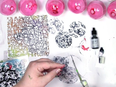 How to Get Your Stenciling Inside a Glass Ornament