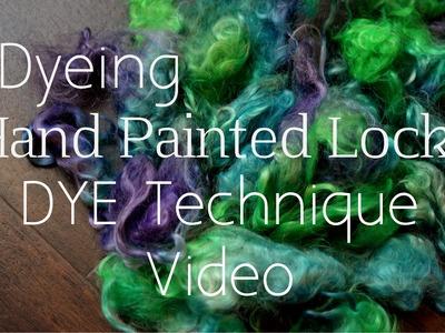 How to Handpaint Wool Locks