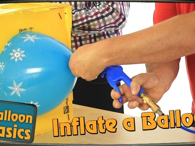 How to Inflate a Latex Balloon & Tie with Ribbon - Balloon Basics 03