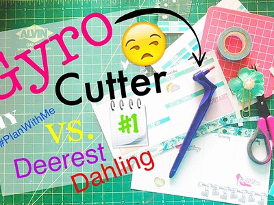 How to Kiss Cut Planner Sticker Printables without a Silhouette \\ Gyro Cutter Tutorial