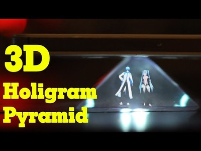 How to make 3D Holigram Pyramid - No Glasses - Easy and simple