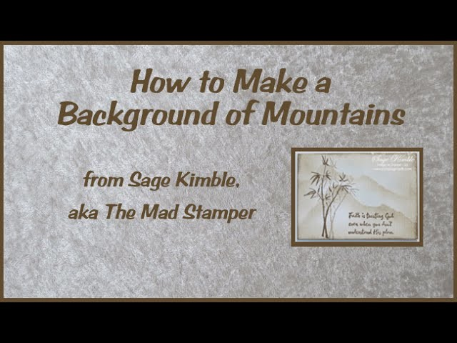 How to Make a Background of Mountains