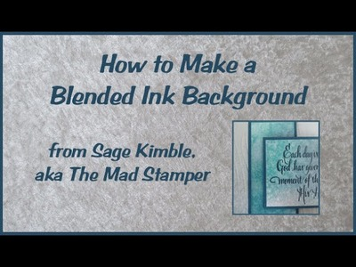 How to Make a Blended Ink Background