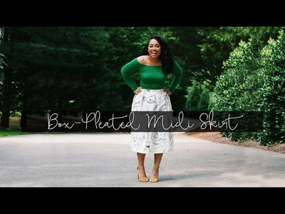 How to Make a Box-Pleated Midi Skirt in 1 Hour