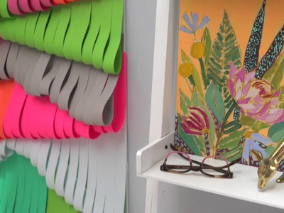 How to Make a Cut Paper Wall Hanging