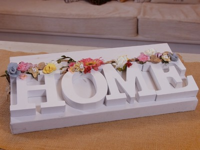 How to make a Decorative Millinery Flower Sign