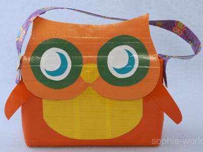 How to Make a Duct Tape Owl Bag | Sophie's World