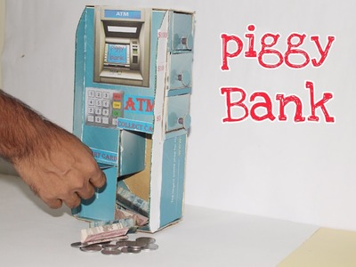 How to make a Easy ATM Piggy Bank for Kids.