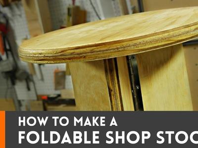 How to make a foldable shop stool
