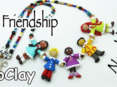 How to make a Friendship Necklace!  Polymer clay tutorial