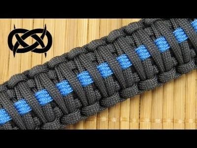 How to make a (King Cobra) Thin Blue Line Paracord Bracelet