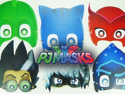 How to make a mask of all the characters PJMASKS | Easy crafts for kids