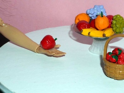 How to make a miniature apple, grape and strawberry (fruits) for dolls, barbies and others