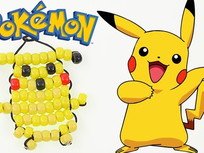 How to Make a Pikachu Keychain from Pokemon Go out of Beads   Pokemon Go DIY Crafts for Kids on DCTC