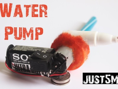 How to make a Portable Water Pump   Easy to Make   Just5mins